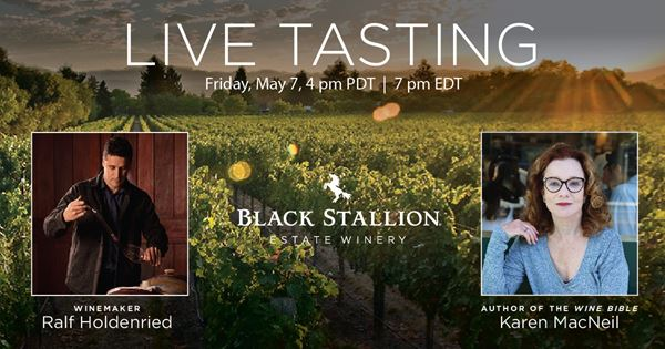 Upcoming Event - AN AFTERNOON IN NAPA WITH BLACK STALLION, NO TRAVEL NECESSARY