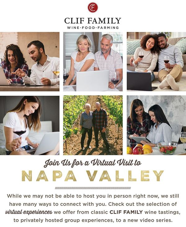 Join Clif Family Winery for a Virtual Visit to the Napa Valley