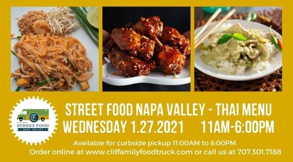 Upcoming Event - Clif Family Street Food Napa Valley: Thai Menu