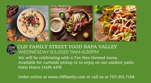 Clif Family Street Food Napa Valley: Tex Mex Menu