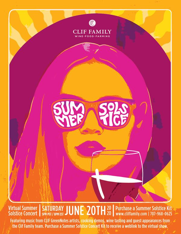 Clif Family Winery 9th Annual Summer Solstice Virtual Concert