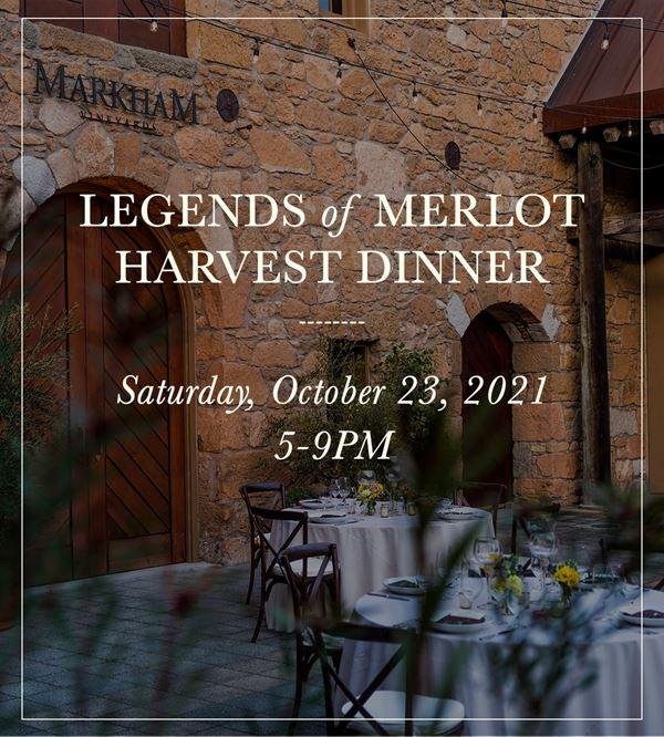 Upcoming Event - Legends of Merlot Harvest Dinner