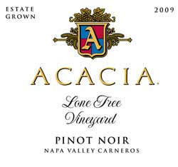 Label for Acacia Vineyard