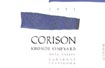 Label for Corison Winery