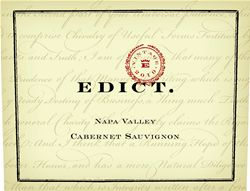 Label for Edict Wines