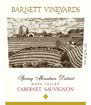Label for Barnett Vineyards