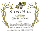 Label for Stony Hill Vineyard