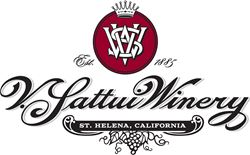 Label for V. Sattui Winery